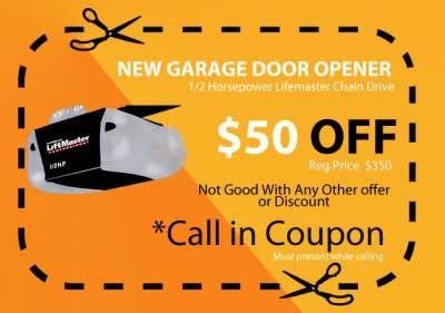 Coupons for Garage door opener miami fl